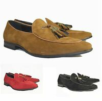 mens shoes casual loafers moccasins fashion slip on with tassle new in box