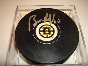 Bill Ranford Signed Boston Bruins Hockey Puck Autographed b