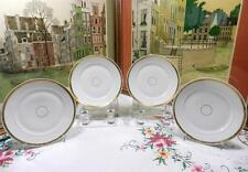 "4 ANTIQUE HAVILAND H & CO WHITE & GOLD 7 3/8"" SIDE PLATES 1876-1889"