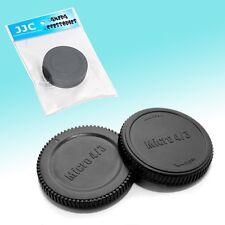 Camera Body + Rear Lens Cap Cover Set for Micro 4/3 Olympus E-P5 E-P2 E-PL3 E-M1