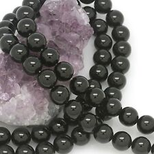 """15.5"""" 10mm Black Onyx Round Loose Spacer Beads"""