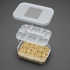 12Reptile Eggs Incubator Tray+Gecko Lizard Snake Bird Eggs Hatcher-Thermometer s