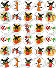 30 x Bing Party Edible Rice Wafer Paper Cupcake Toppers