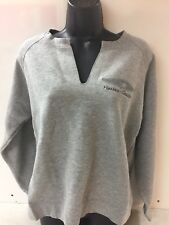 Harley-Davidson Women's Gray Split neck sweatshirt Star wing Short length Large
