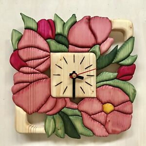 Clock with flowers,