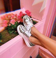 ULTIMO! Shellys LONDRA argento Dilys Plateau Sneaker TAGLIE 7.5 (Euro 38)