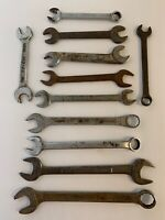 Vintage Mixed Wrench Lot of American Made USA - Lot of 11 Wrenches