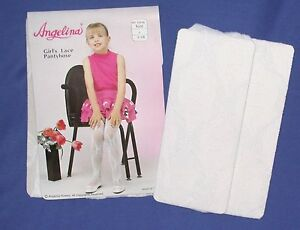 D316 Baby White Lace pantyhose Tight Flower Girl Christening Holy Communion 1-14