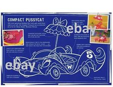 Hanna Barbera WACKY RACES BLUEPRINT PRINT - COMPACT PUSSYCAT Penelope Pitstop