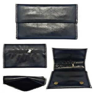 Magnetic Soft PU Leather Tobacco Pouch Fully Lined Black Colour Great Quality UK