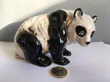 China Pottery Panda Bear Figurine