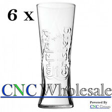 Pack Of 6 Branded Carlsberg 20oz (58cl) CE Toughened & Nucleated Glasses