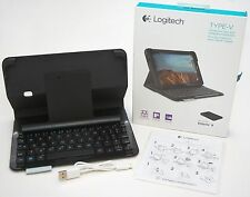 Logitech Type-V Ellipsis 8 Black Keyboard Folio Bluetooth Case Stand Ultra-Slim