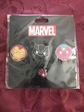 SDCC 2017 Marvel Exclusive Iron Man Black Panther Vision Emoji 4 Pin Set