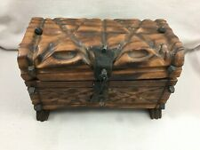 Ancien Vintage coffret coffre à trésor Pirate en bois Boîte