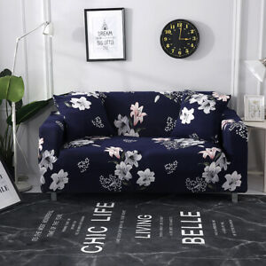 1/2/3/4 Seat Sofa Cover Slipcover Elastic Cushion Protector Dustproof Home Decor