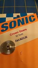 Sonic 3/32 axle 64 pitch 50 tooth Aluminum Drag Crown Gear Mid America Raceway