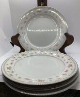 """Abingdon Pattern  Porcelain 10 1/4"""" Dinner Plates Japan Set Of 4"""