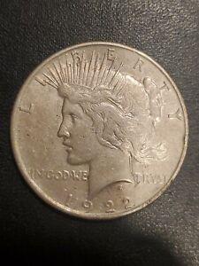 1922 $1 Peace Dollar High XF-AU details