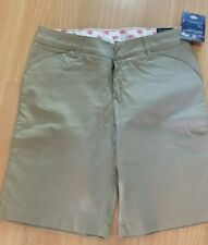 Dickies Women's Twill Khaki Shorts size 8 New  with Tags