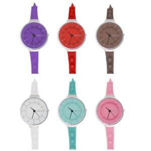 Orologio Donna TALCO SPIKE Cinturino Silicone Colorato Borchie NEW