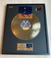 Elo Time 1981 Custom 24k Gold Vinyl Record In Wall Hanging Frame