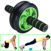 Duo Ab Roller Exercise Wheel Rollout Pad Abdominal Exercise Fitness Strength