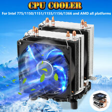 4 Pipes LED CPU Cooler Fan Heat Sink for Intel 775/1150/1151/1155/1156/1366 AMD