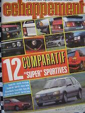 revue ECHAPPEMENT 1984 205 GTI + HONDA CRX + GOLF GTI + RITMO ABARTH + XR3i