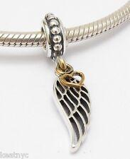 LOVE & DIRECTION DANGLE CHARM Bead Sterling Silver.925 For European Bracelet 882