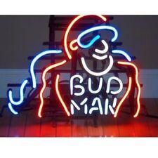 """New Bud Man Budweiser Beer Neon Light Sign 17""""x14"""""""
