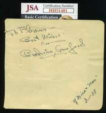 Broderick Crawford JSA Coa Signed Vintage 1940`s Album Page Autograph