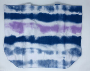 Bloomingdales Tie Dye Tote Canvas Large Blue Shopping Bag NWT Reusable
