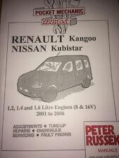 RENAULT KANGOO NISSAN KUBISTAR PETROL 1.2 1.4 1.6 8 AND 16V CAR MANUAL