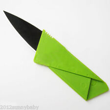 Cardsharp Credit Card Folding Pocket Wallet Knife Safety Tool Thin Free Green