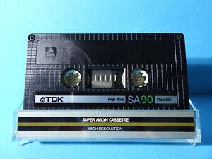 🙈 1x TDK SA 90 * IEC TYPE II 2 * Tape Cassette Kassette кассета Casete *