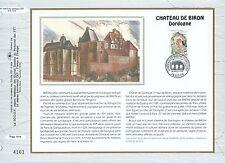 FEUILLET CEF / DOCUMENT PHILATELIQUE / CHATEAU DE BIRON 1992 BIRON DORDOGNE