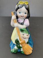 "Bell Figurine Disney Snow White Dwarf Fairytale Ceramic JSNY Sweet RARE 4"" HTF"