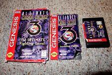 Ultimate Mortal Kombat 3 III (Sega Genesis, 1996) Complete FR