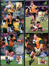 1999 Centenary of Test Rugby Maxi Cards Prepaid Postcard Maxicards Stamps