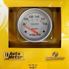 Auto Meter 4491 Ultra Lite Voltmeter Volt Meter Gauge 2 58 8 - 18 Volts
