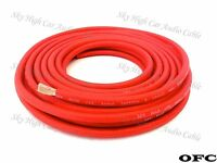 25 ft 8 Gauge OFC AWG RED Power Ground Wire Sky High Car Audio GA ft