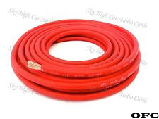 8 Gauge OFC AWG RED Power Ground Wire Sky High Car Audio By The Foot GA ft