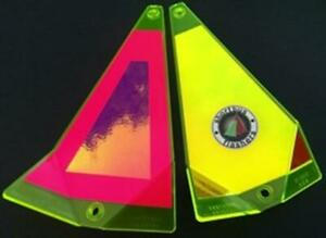 "Shortbus 8"" Triangle Flashers Trolling Salmon Steelhead Fishing Sweet Abby"