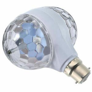 1X 6W Double Head Disco Stage Light RGB LED Ball Magic Bulb KTV Rotating B22