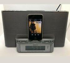 Sony iPhone docking station alarm clock Radio ICF-DS15IP Dual Alarm Speaker box