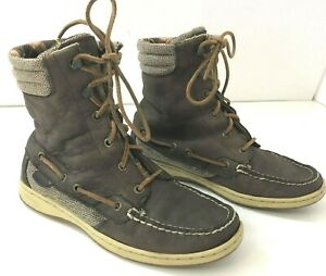 SPERRY TOPSIDER Hikerfish Boots Womens 7M Lace Up