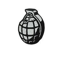 Toppe toppa ricamate patch biker granate bomba militare teschio softair airsoft