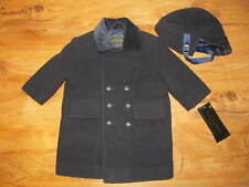 S. ROTHSCHILD Navy Blue Winter Pea Wool Blend Coat w/ Matching Hat 12M Baby NWT