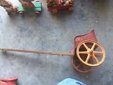 Vintage Tin Toy Doll Chariot Wagon VERY RARE Antique Wagon Red
